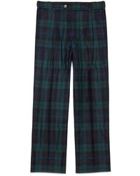 Gucci - Washed Wool Tartan Pajama Pant - Lyst