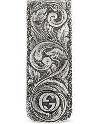 Gucci Clip para Billetes Garden con Cabeza Felina - Multicolor