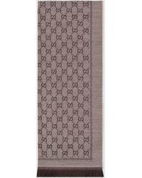 Gucci - グッチGGジャカード ウール スカーフ - Lyst