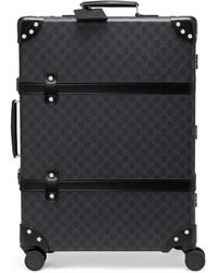 Gucci Valise à motif GG Globe-Trotter taille moyenne - Noir
