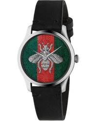 Gucci Reloj G-Timeless, 38 mm - Negro