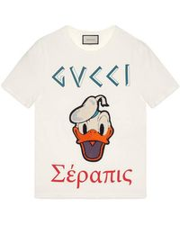 Gucci - Washed T-shirt With Donald Duck - Lyst