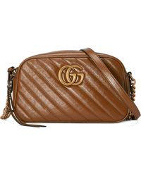 Gucci - Borsa a spalla GG Marmont matelassé misura piccola - Lyst