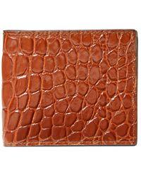 Gucci Faltbrieftasche aus Krokodilleder - Braun