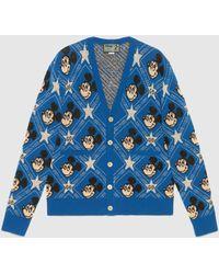 """Gucci """"Disney x """" Cardigan aus Wolle - Blau"""