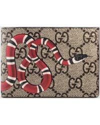 gucci wallet. gucci   snake print gg supreme wallet lyst p