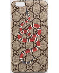 gucci iphone 7 plus case. gucci | snake print iphone 6 plus case lyst 7 u