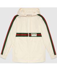 Gucci グッチ公式 ラベル コットン ジャケットアイボリー コットンcolor_descriptionundefined - ホワイト