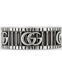 Gucci Doppel G Ring aus Silber - Mehrfarbig