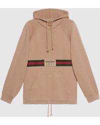 Gucci グッチ公式ウェブ& ラベル付き スウェットシャツベージュcolor_descriptionウェア - ブラウン
