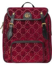 Gucci - Small GG Velvet Backpack - Lyst