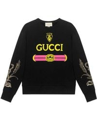 Gucci - Cotton Sweatshirt With Logo - Lyst
