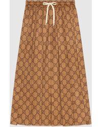 Gucci GGテクニカルジャージー スカート - ナチュラル