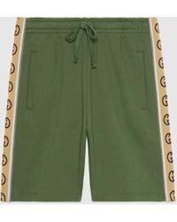 Gucci グッチコットンジャージー ショートパンツ - グリーン