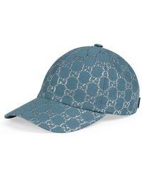 Gucci Gorra de béisbol con GG lamé - Azul