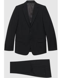 Gucci 【公式】 (グッチ)スリムフィット ウールモヘア スーツブラックブラック