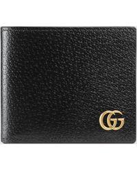 Gucci Faltbrieftasche GG Marmont aus Leder - Schwarz