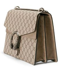 Gucci Dionysus Medium GG Shoulder Bag - Natural