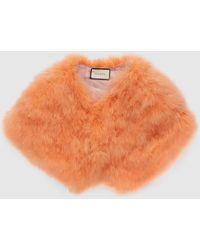 Gucci Cape aus Straußenfedern - Orange