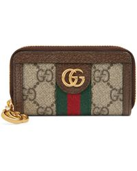 Gucci Ophidia GG Key Case - Brown