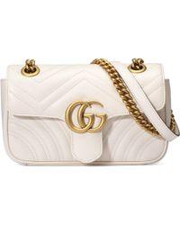 Gucci Minibolso GG Marmont de Matelassé - Blanco