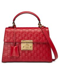 Gucci | Padlock Signature Top Handle Bag | Lyst