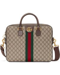 Gucci Ophidia GG Briefcase - Natural