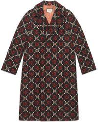 Gucci Doppelreihiger Mantel mit Logo - Schwarz