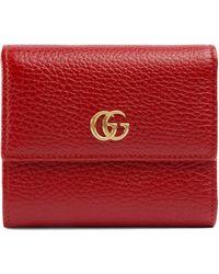 Gucci - Portafoglio GG Marmont in pelle - Lyst
