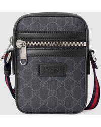 Gucci グッチGGスプリーム メッセンジャーバッグ - ブラック