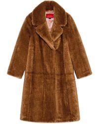 Gucci 2015 Re-Edition abrigo de imitación piel - Marrón