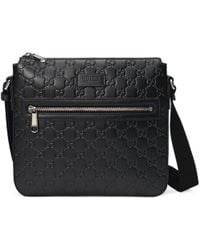 Gucci Signature Messenger Bag - Black