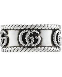 Gucci Double G Ring - Metallic