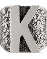 Gucci Bague lettre « K » en - Multicolore