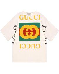 Gucci T-shirt oversize con logo - Bianco