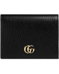 Gucci Black Marmont GG Leather Card Case