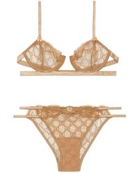 Gucci GG Embroidered Tulle Lingerie Set - Multicolour