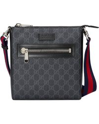 Gucci GG Supreme Monogrammed Cross-body Bag - Black
