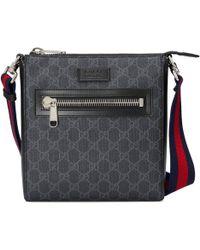 Gucci - Borsa a tracolla in tessuto GG Supreme misura piccola - Lyst