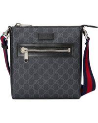 Gucci Borsa a tracolla in tessuto GG Supreme misura piccola - Nero
