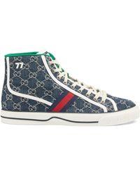 Gucci Tennis 1977 High Top sneaker - Blau