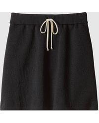 Gucci - 【公式】 (グッチ)GG ジャージージャカード スカート ブラックブラック - Lyst