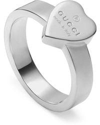 Gucci Ring mit Herz und Logo - Mettallic