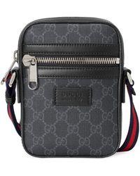 Gucci Black Supreme Logo Canvas Flight Bag