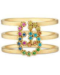 Gucci - GG Running Ring With Multicolor Stones - Lyst