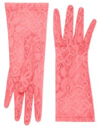 Gucci - Tulle Gloves With Floral Motif - Lyst
