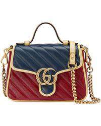 Gucci Mini borsa a mano GG Marmont - Blu