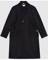 Gucci - Lodenmantel aus Wolle mit Etikett - Lyst
