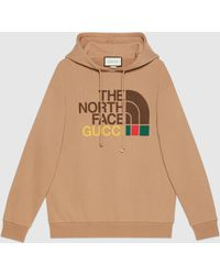 Gucci The North Face x Pullover aus Baumwolle - Braun