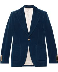 Gucci - Velvet Formal Jacket - Lyst